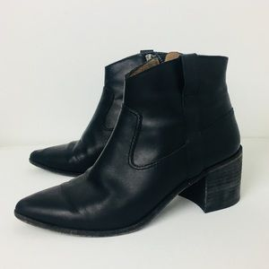 Madewell The Lonnie Black Leather Boots